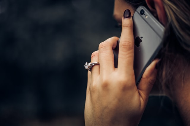 A girl talking on the phone